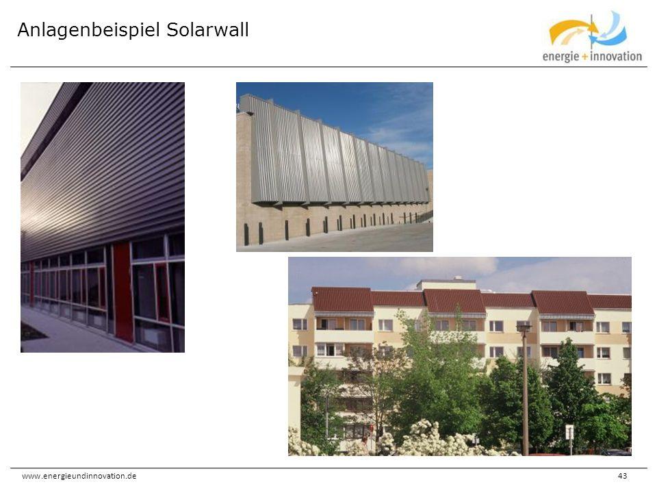 Anlagenbeispiel Solarwall
