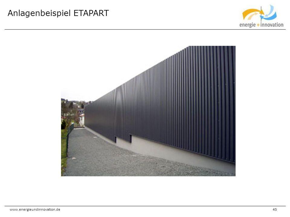 Anlagenbeispiel ETAPART