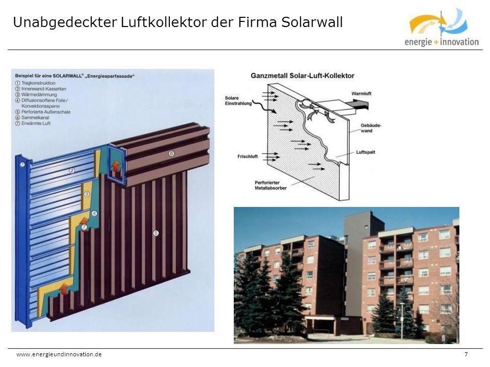Unabgedeckter Luftkollektor der Firma Solarwall