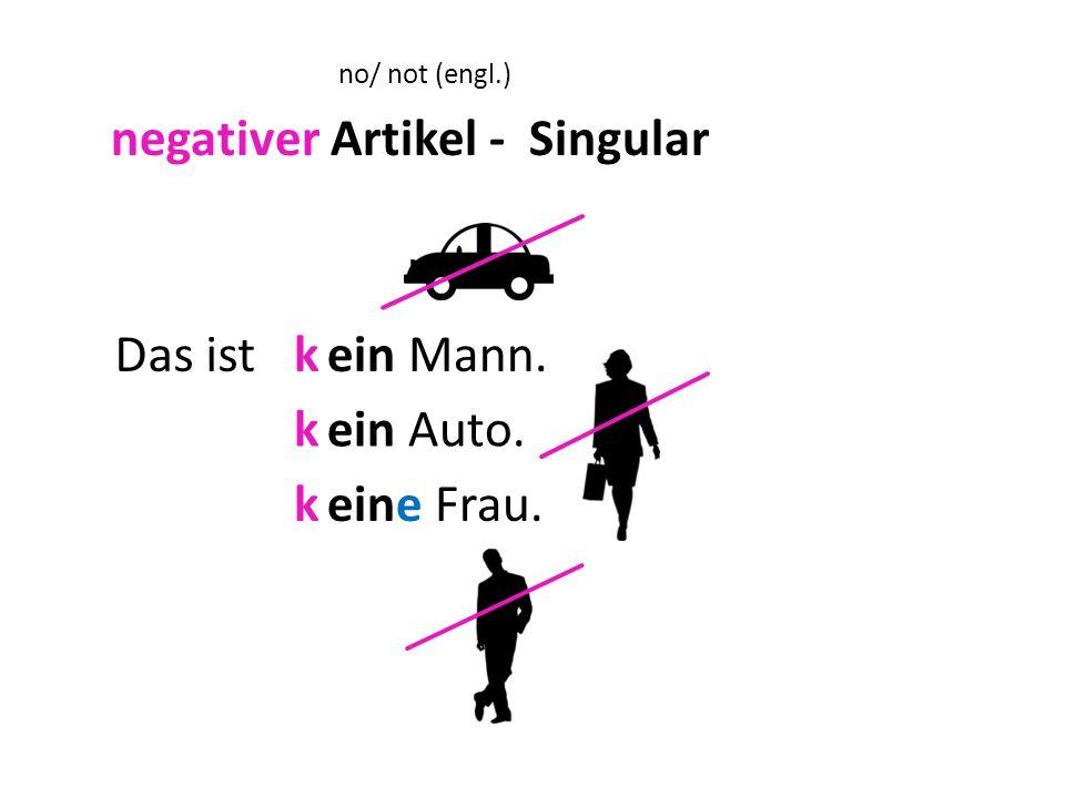 negativer Artikel - Singular