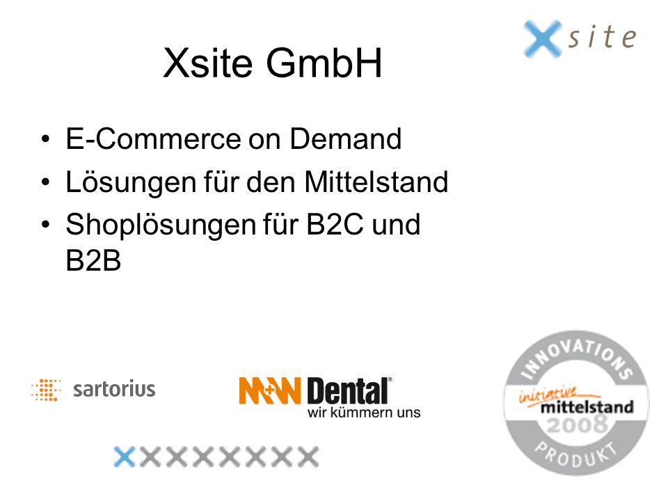 Xsite GmbH E-Commerce on Demand Lösungen für den Mittelstand