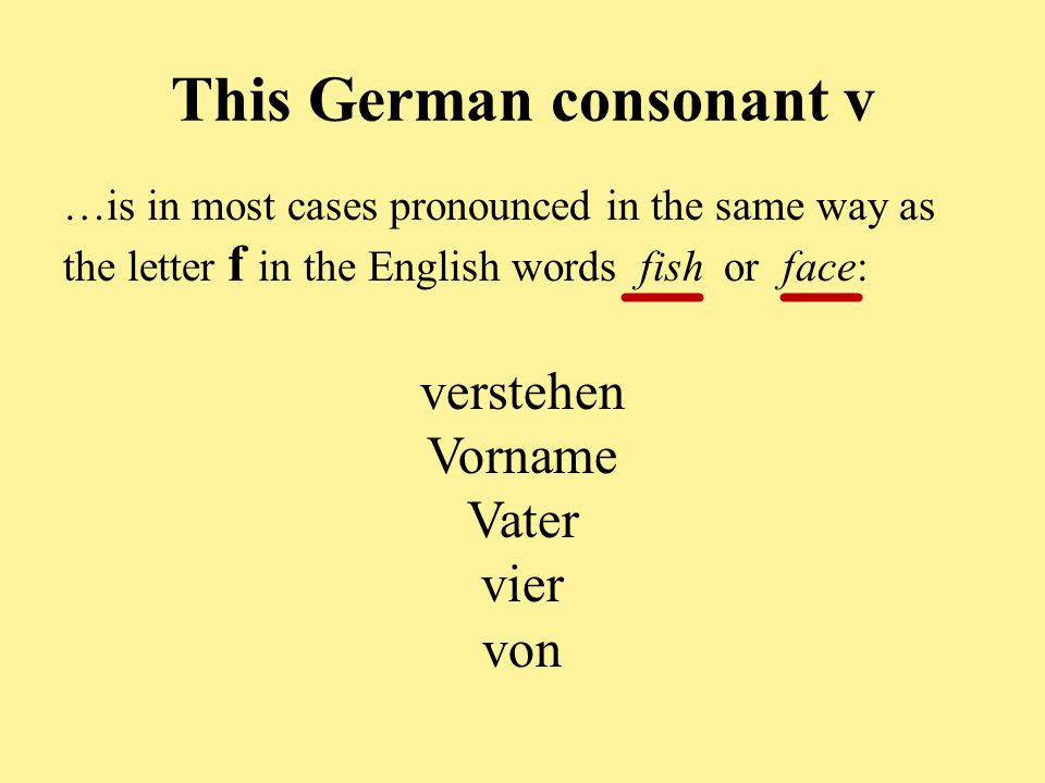 This German consonant v