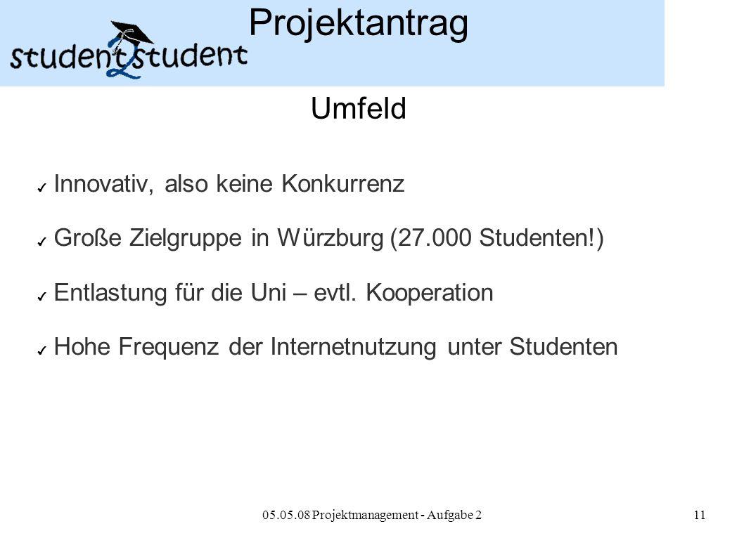 05.05.08 Projektmanagement - Aufgabe 2
