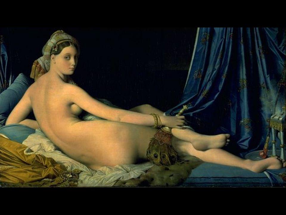 Jean Auguste Dominique Ingres 1780-1867 La Grande Odalisque 1814 0,91 x 1,62m Μυστηριώδες Βλέμμα και χάρη.