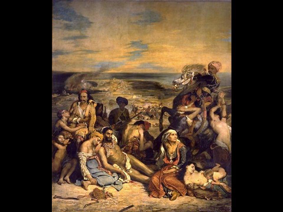 Eugéne Delacroix Scenes des masacres de Scio 1824