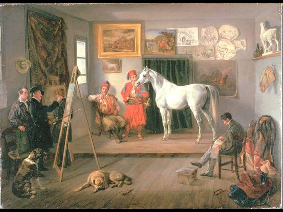 Adam, Albrecht 1786-1862 Atelier des Künstlers in München 1835.