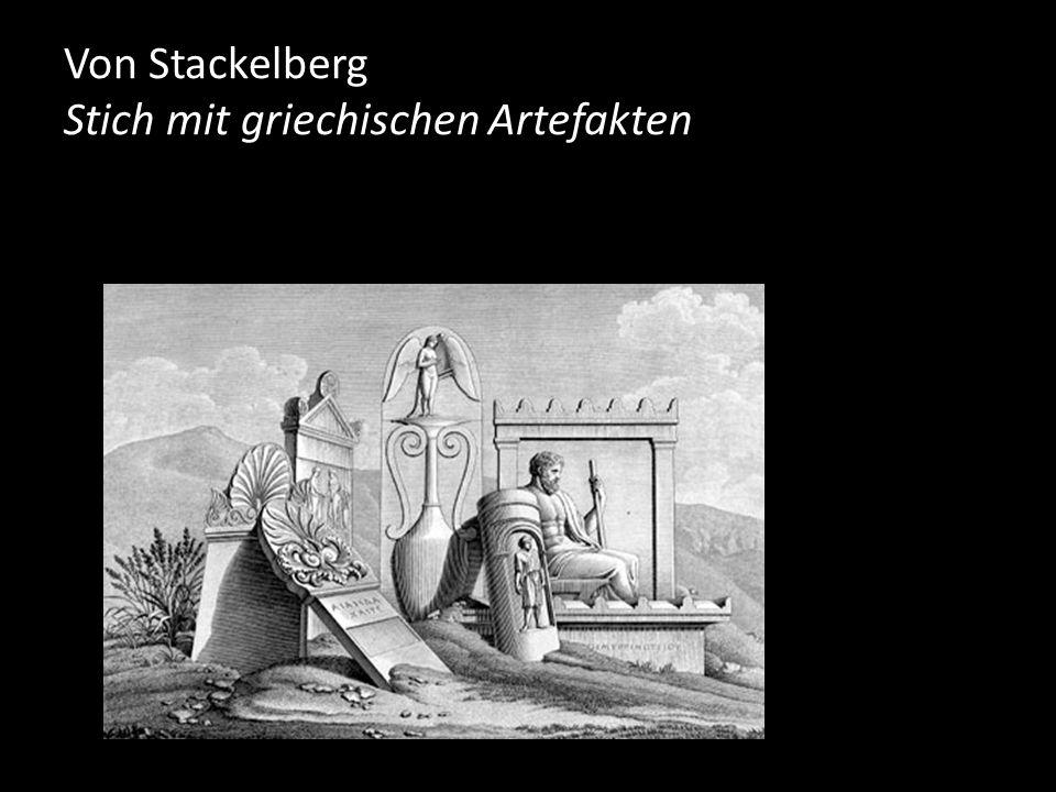 Von Stackelberg Stich mit griechischen Artefakten