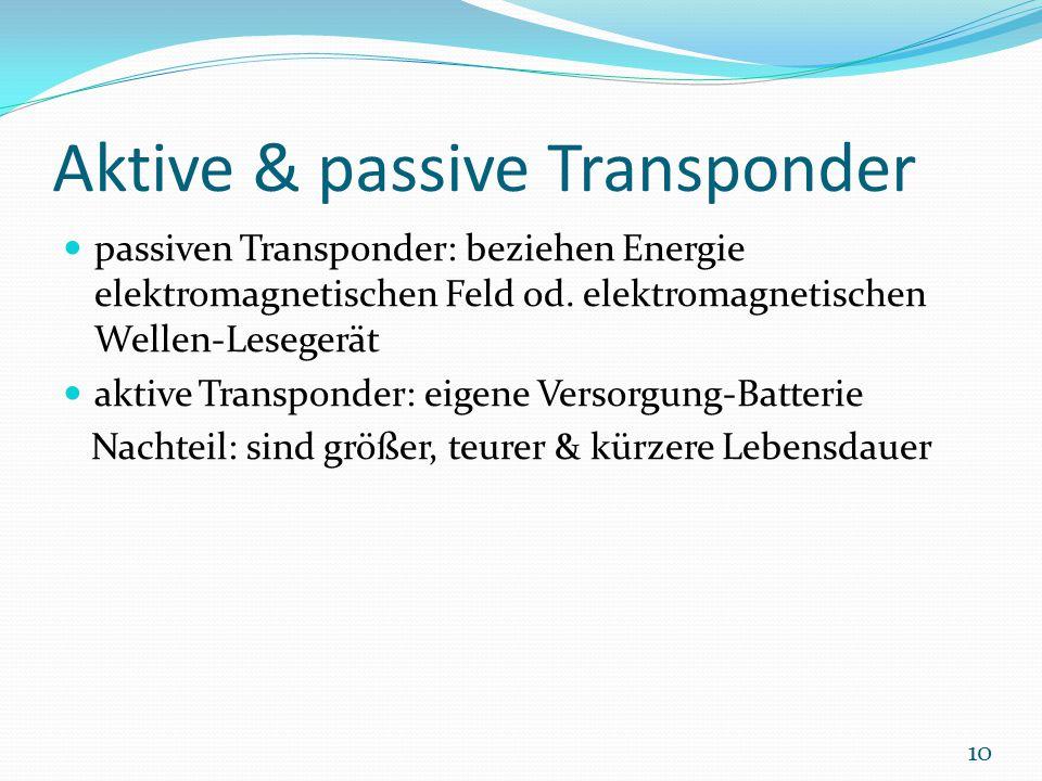 Aktive & passive Transponder