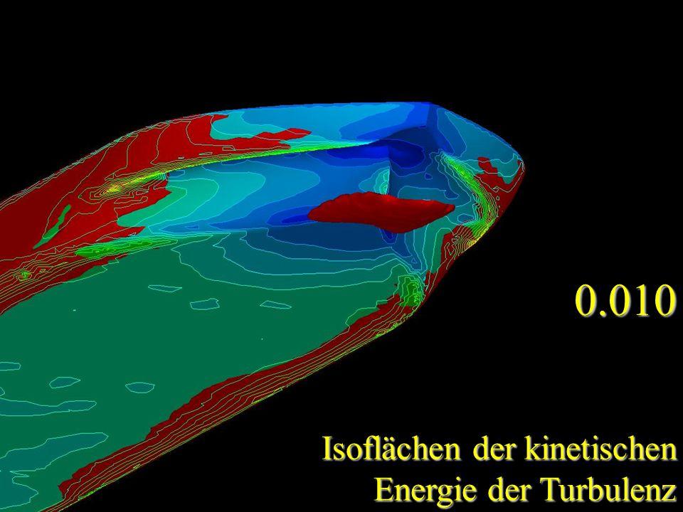 0.010 Isoflächen der kinetischen Energie der Turbulenz