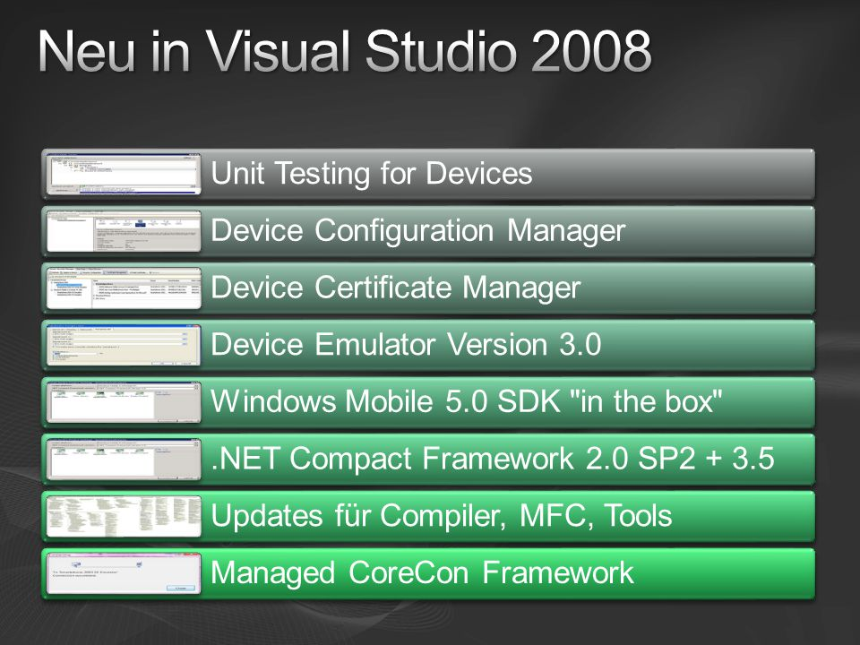 Neu in Visual Studio 2008 Unit Testing for Devices