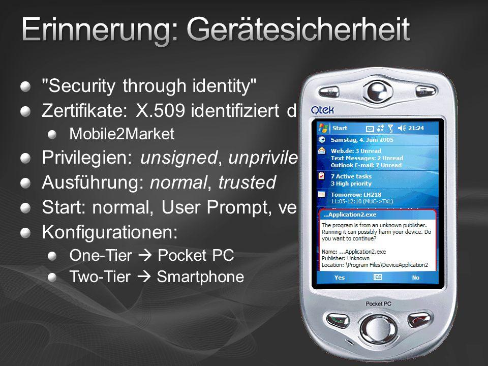 Erinnerung: Gerätesicherheit