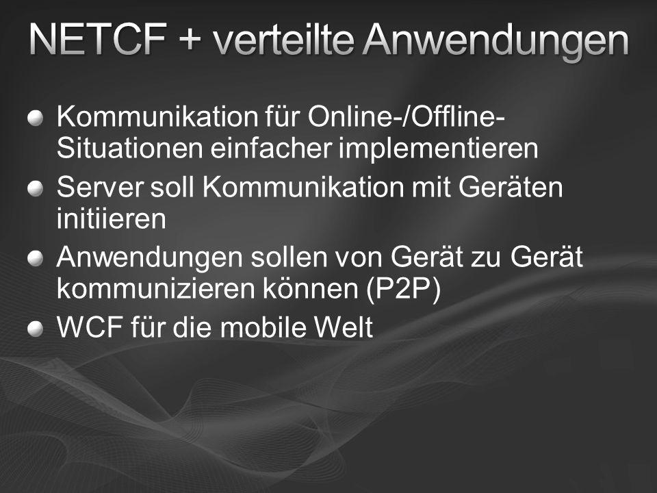 NETCF + verteilte Anwendungen
