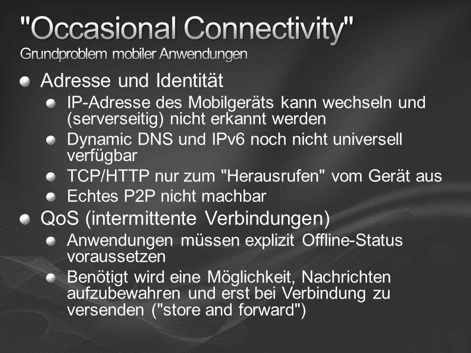 Occasional Connectivity Grundproblem mobiler Anwendungen