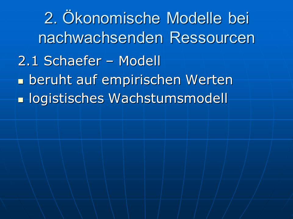 2. Ökonomische Modelle bei nachwachsenden Ressourcen
