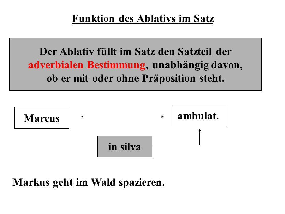 Funktion des Ablativs im Satz
