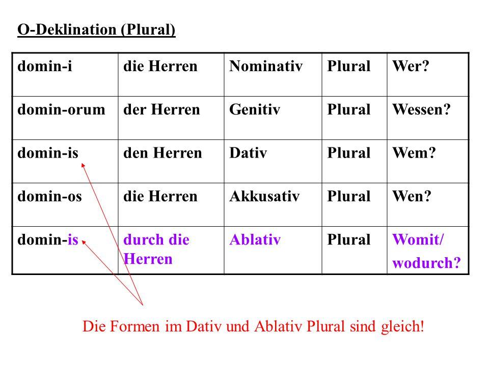O-Deklination (Plural)