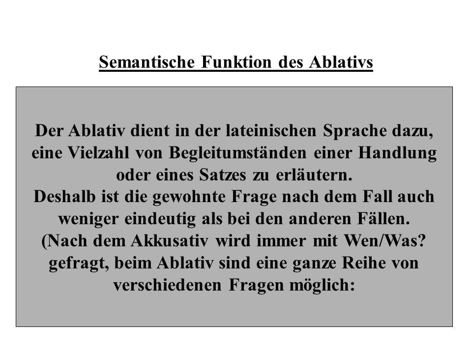 Semantische Funktion des Ablativs