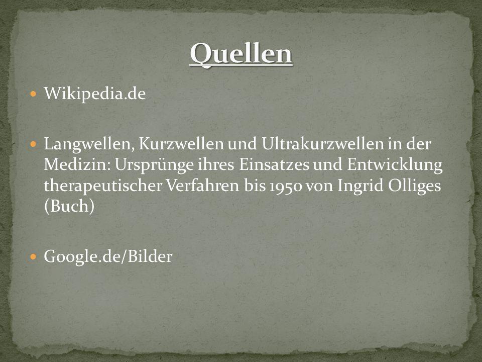 Quellen Wikipedia.de.