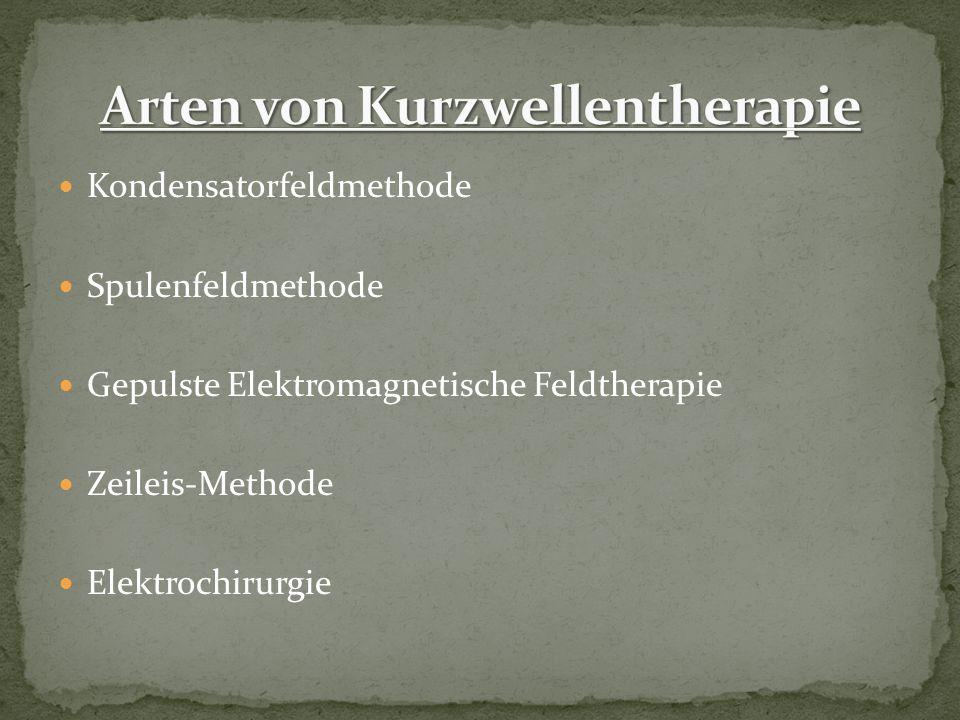 Arten von Kurzwellentherapie
