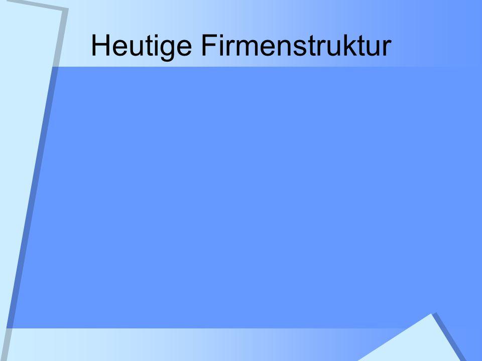 Heutige Firmenstruktur