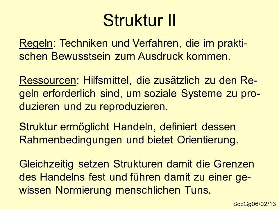 Struktur II Regeln: Techniken und Verfahren, die im prakti-