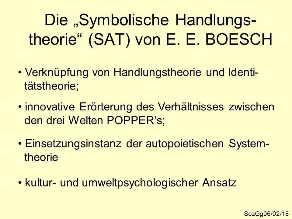 """Die """"Symbolische Handlungs-theorie (SAT) von E. E. BOESCH"""