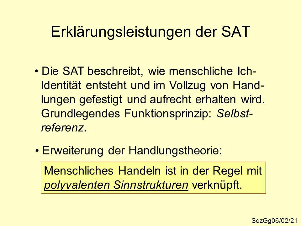 Erklärungsleistungen der SAT