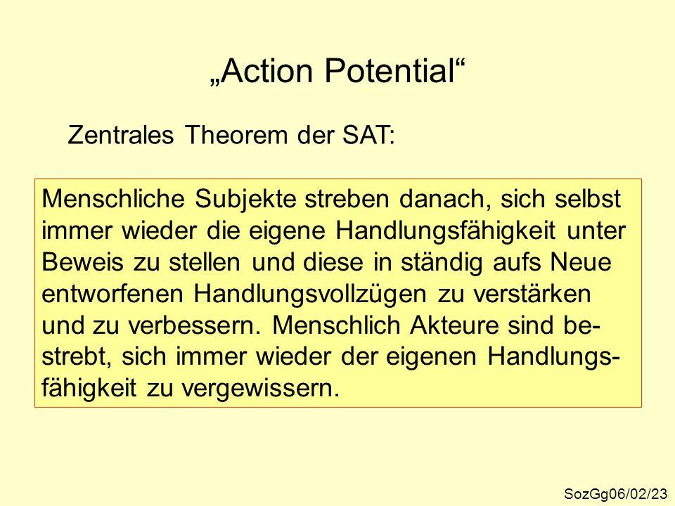 """Action Potential Zentrales Theorem der SAT:"