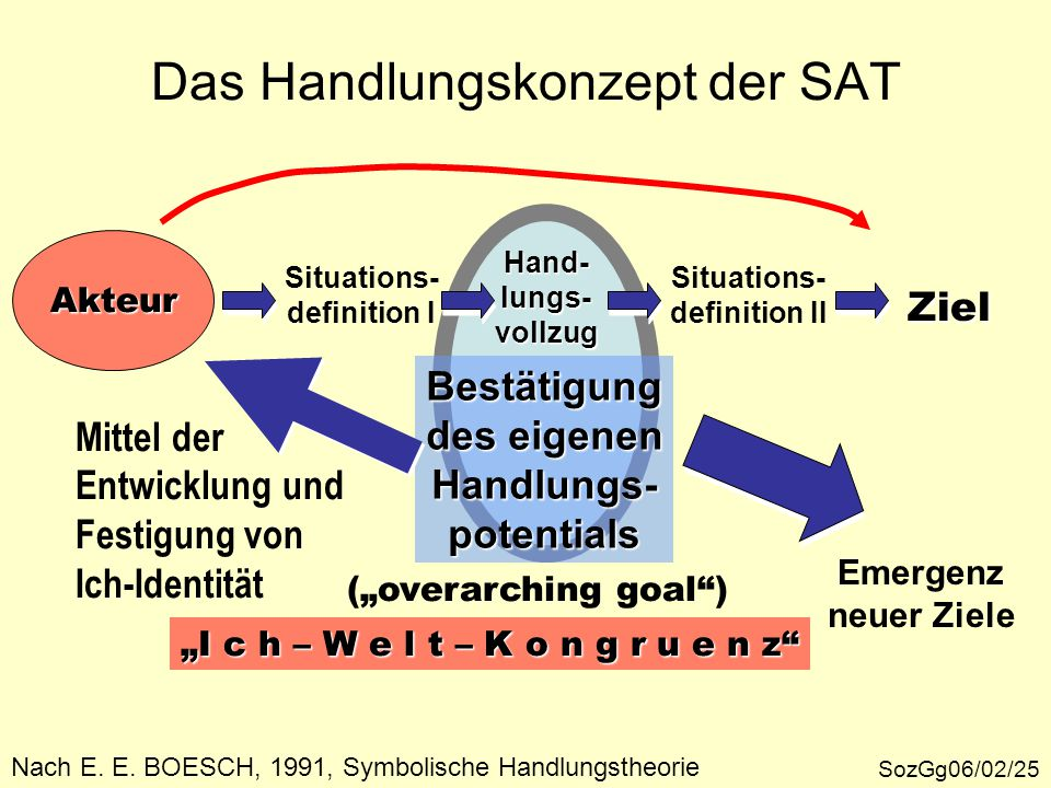 Das Handlungskonzept der SAT