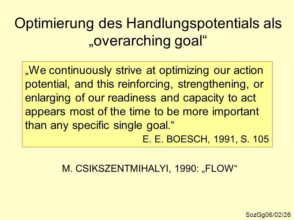 "Optimierung des Handlungspotentials als ""overarching goal"