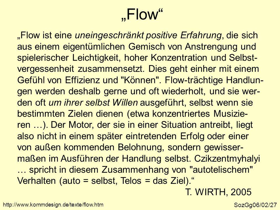 """""""Flow """"Flow ist eine uneingeschränkt positive Erfahrung, die sich"""