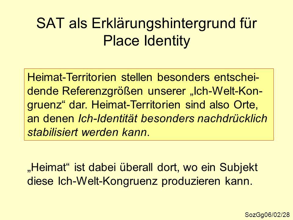 SAT als Erklärungshintergrund für Place Identity