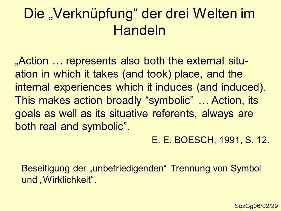 """Die """"Verknüpfung der drei Welten im Handeln"""