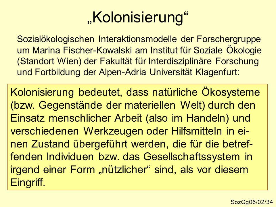 """""""Kolonisierung Kolonisierung bedeutet, dass natürliche Ökosysteme"""