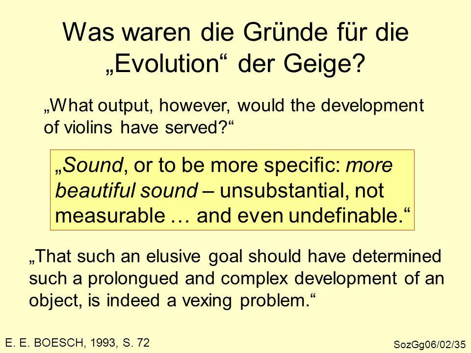 """Was waren die Gründe für die """"Evolution der Geige"""