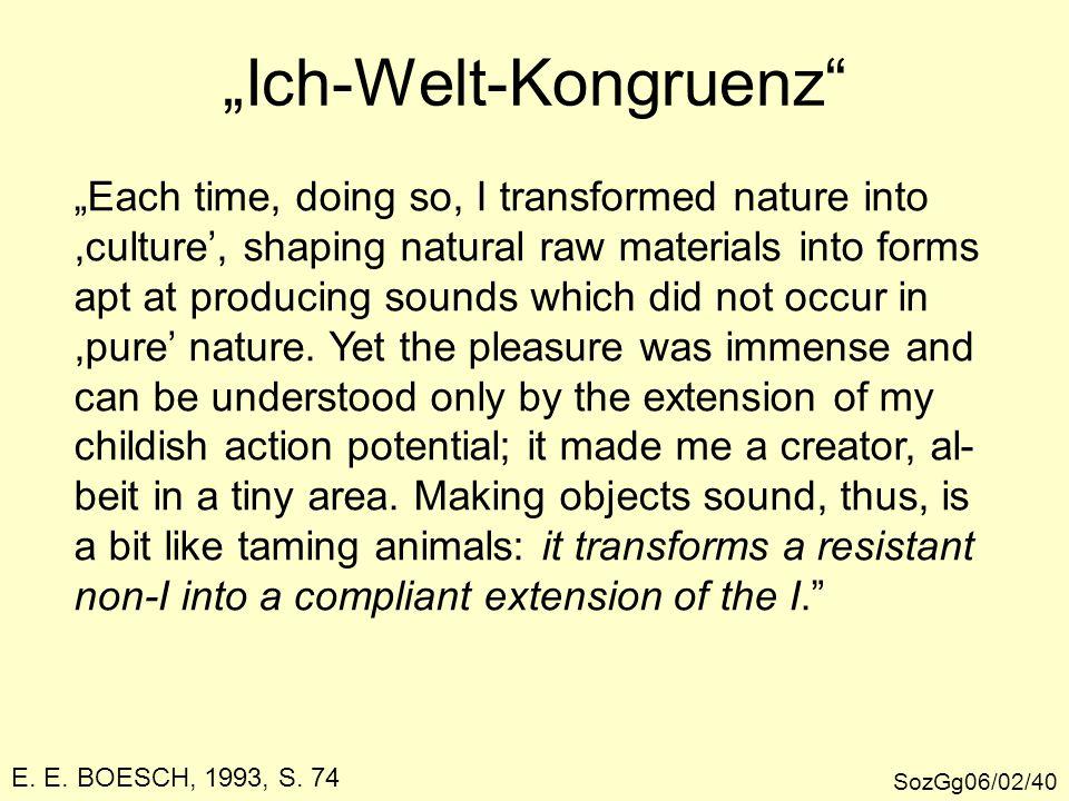 """""""Ich-Welt-Kongruenz"""