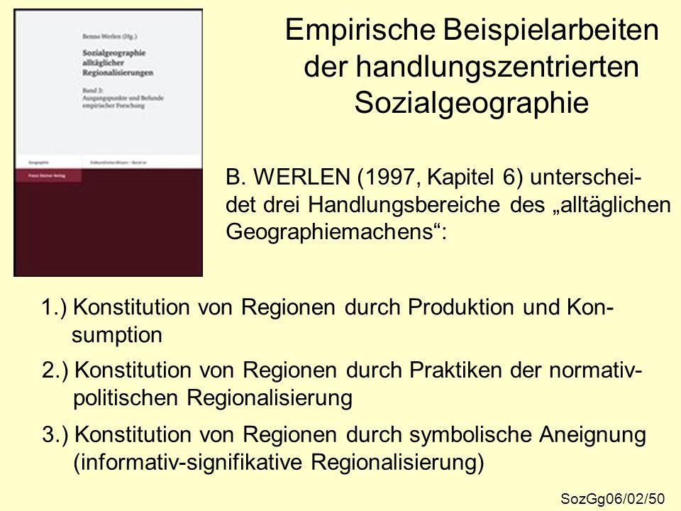 Empirische Beispielarbeiten der handlungszentrierten Sozialgeographie