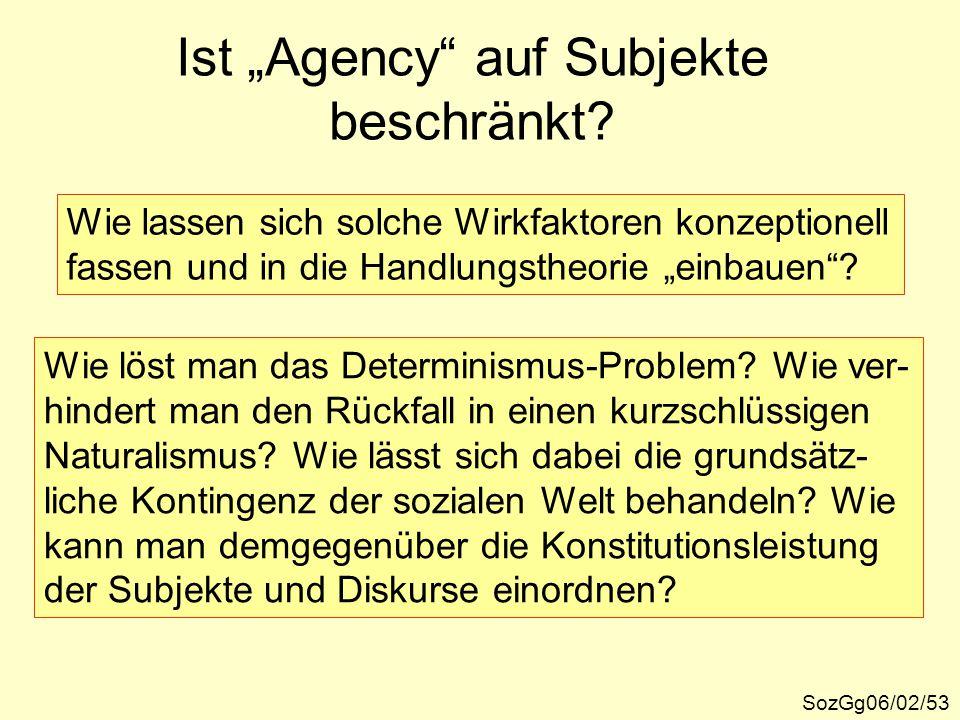 """Ist """"Agency auf Subjekte beschränkt"""