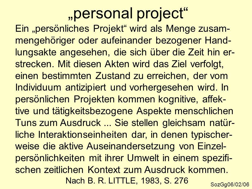 """""""personal project Ein """"persönliches Projekt wird als Menge zusam-"""