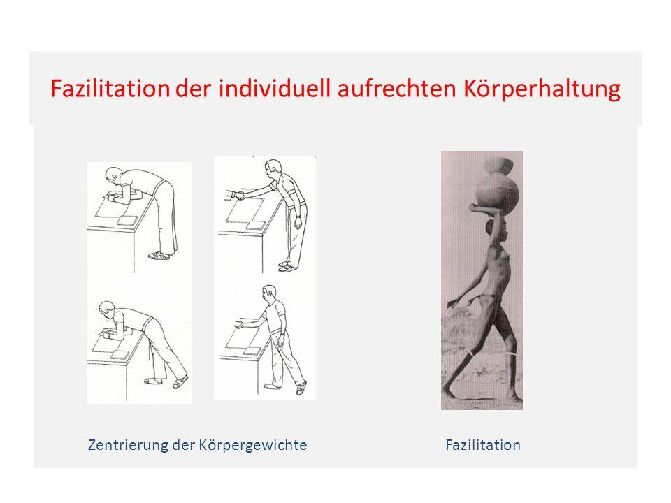 Fazilitation der individuell aufrechten Körperhaltung