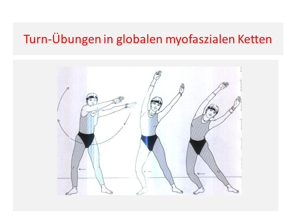 Turn-Übungen in globalen myofaszialen Ketten
