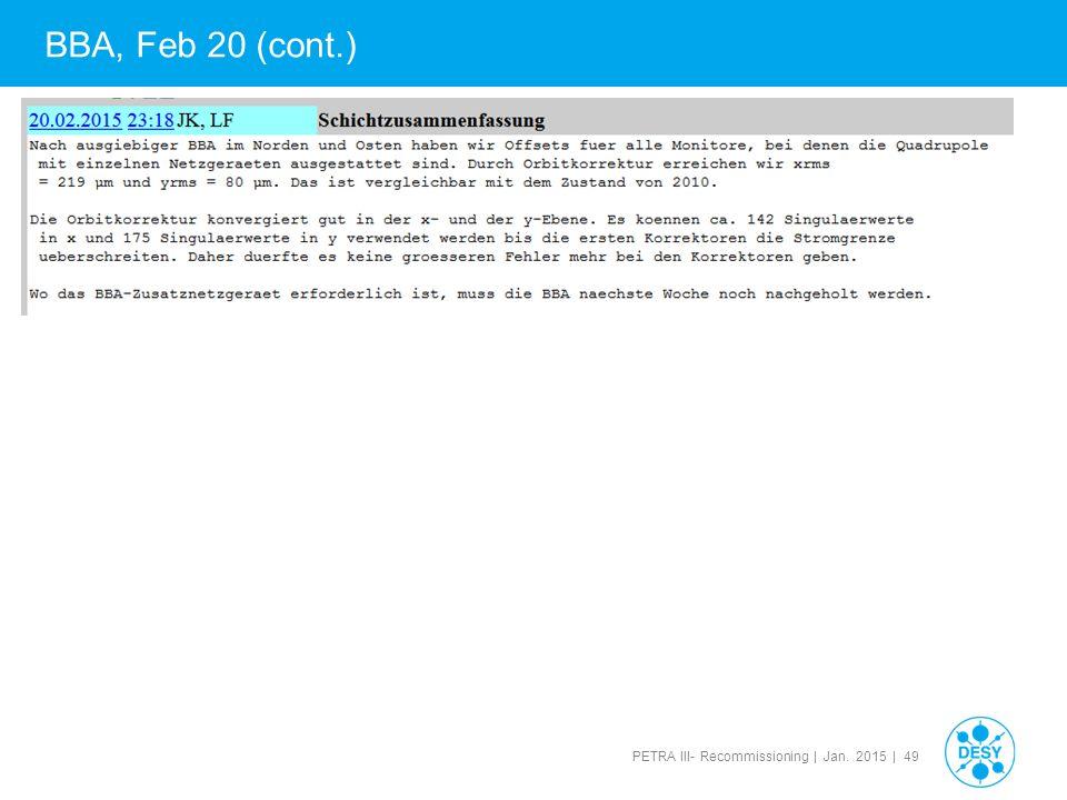 BBA, Feb 20 (cont.) 49 49