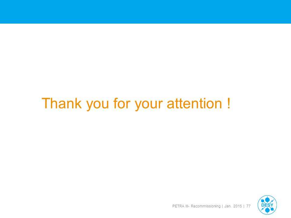 Thank you for your attention !
