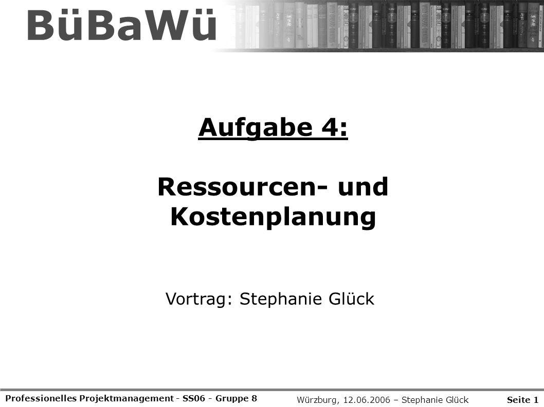 BüBaWü Aufgabe 4: Ressourcen- und Kostenplanung