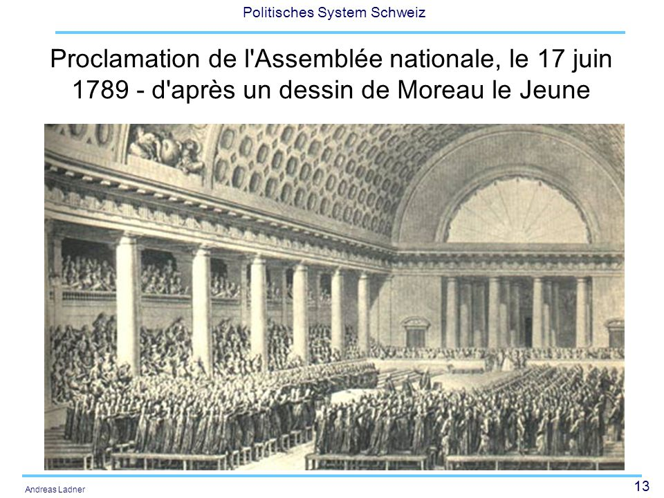 Proclamation de l Assemblée nationale, le 17 juin 1789 - d après un dessin de Moreau le Jeune