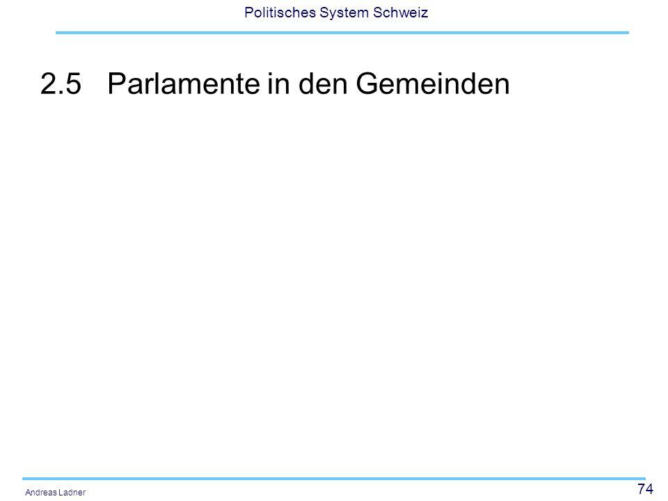 2.5 Parlamente in den Gemeinden
