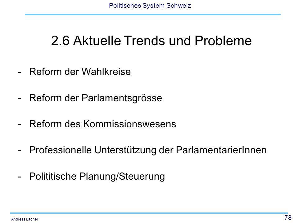 2.6 Aktuelle Trends und Probleme
