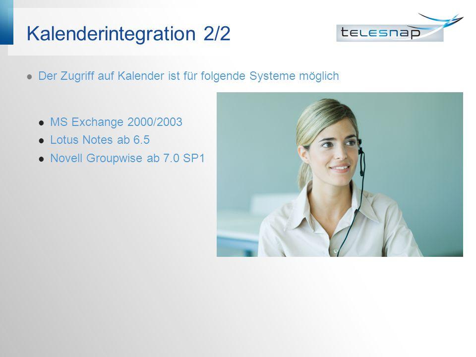 Kalenderintegration 2/2