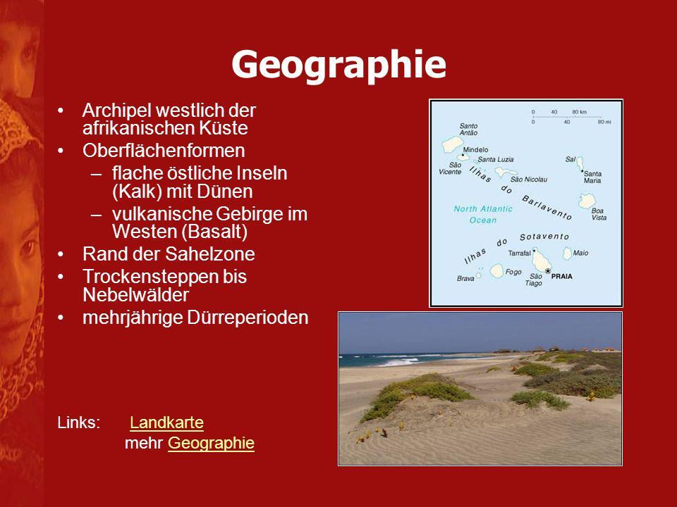 Geographie Archipel westlich der afrikanischen Küste Oberflächenformen