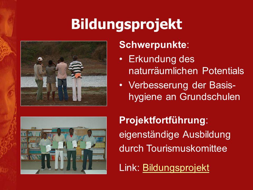 Bildungsprojekt Schwerpunkte: Erkundung des naturräumlichen Potentials